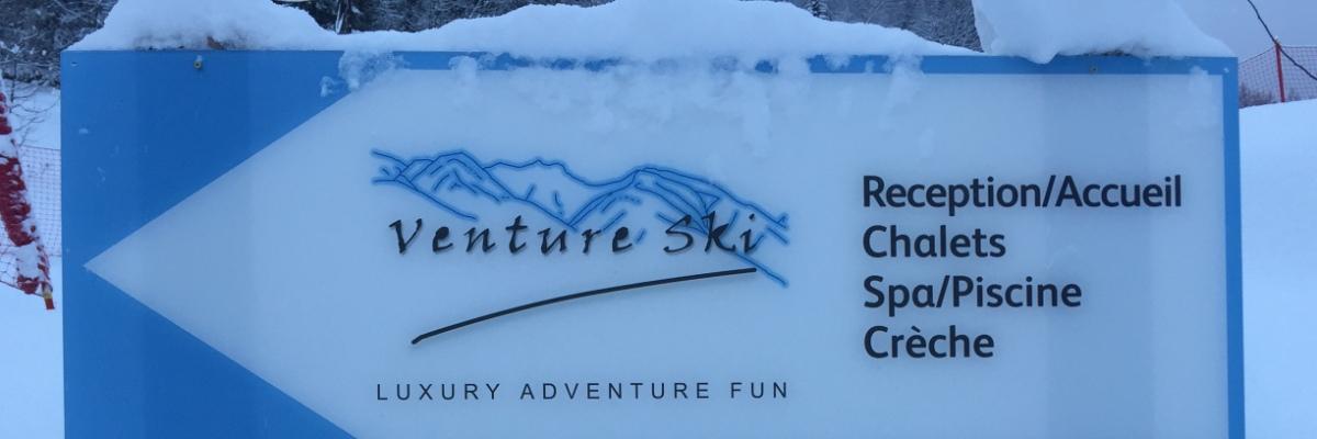 Venture Ski and Sainte Foy - this way!