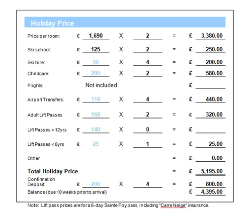 How to book a ski holiday